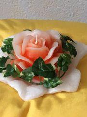 Blumenkerze Kerze Rose Duftkerze