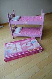 Puppenbettchen Bambolina Bunk Beds