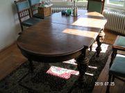 Antiker Wohnzimmer Holztisch erweiterbar mit