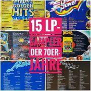 15 Sampler-Schallplatten LPs Top-Hits 70er-Jahre