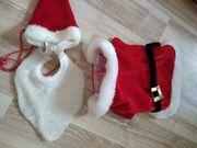 Süsses Hundekostüm Weihnachtsmann Gr XS