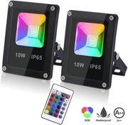 2x 10W RGB LED Spotlights