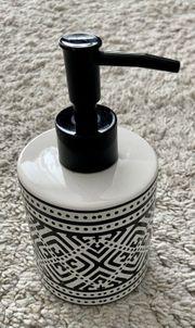 Seifenspender Boho- Style schwarz weiß
