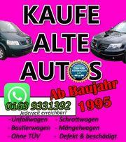 Schrottauto Ankauf deutschlandweit - Schrottauto verkaufen