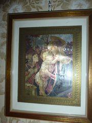Wandbild Maria mit Kind Kunstdruck