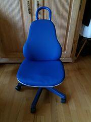 Moll mitwachsender Schreibtischstuhl blau- Firma