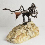 Drache Skulptur Figur Fantasy Metall