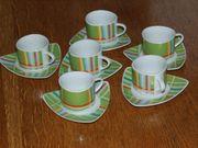 Grand 6er-Set Kaffeetasse Untertasse Porzellan