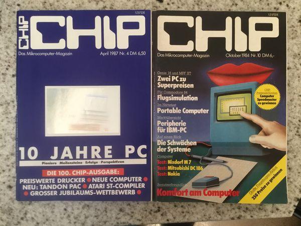 2 CHIP Computerzeitschriften 1984 1987