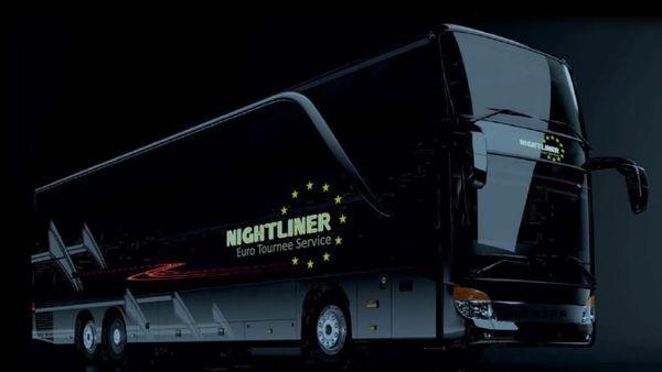 Nightliner-Busse Vereinsausflüge-Junggesellenabschiede-