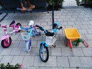 Kinderfahrrad und Laufrad