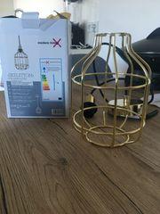 Retro Lampe in Gold