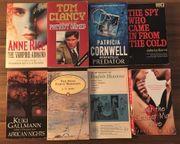 8 englische Bücher u a