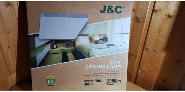 LED Deckenleuchte 24W Deckenlampe 2050LM Quadrat ...