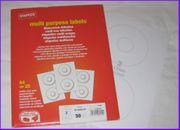 44x Datenträger Etiketten CD Labels