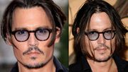 Johnny Depp Blau Violett Getönt
