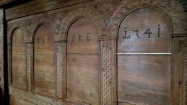 Stilmöbel, Bauernmöbel - Museales Bauernbett Himmelbett von 1741