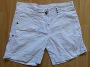 Shorts Bermuda Gr 158 weiß -
