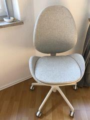 Ikea-Drehstuhl Hattefjäll in Beige Weiß