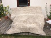 2 x Teppich Langfloor naturweiß