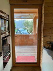 Holzfenstertür