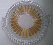 Glasplatte Kuchenplatte Gebäckplatte Tortenplatte