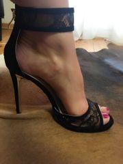 Sexy High Heels mit Spitze