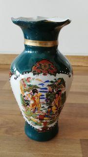 Porzellan Vase 8x15cm asiatischer Stil