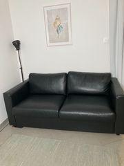 Schwarzes Bett-Sofa von IKEA - VIMLE