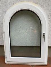 Rundbogenfenster Kunststoff weiß gebraucht
