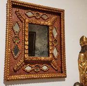 Antiker uriger Spiegel Dekoration Bild