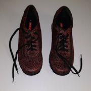 RED HOT Schuhe schwarz rot
