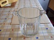 Eiseimer Eiswürfelbehälter Kühler aus Glas