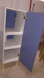 IKEA Sparren - Badezimmerschrank weiß blau