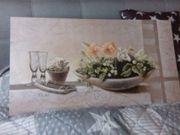 Keilrahmenbild Stiefmütterchenstilleben Gr 93x50 cm