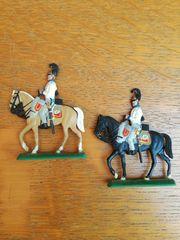 2 Zinnsoldaten Preußische Kürassiere zu