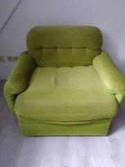 Lindgrüner Einsitzer-Sessel Vintage-Stück