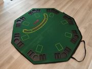 Poker BlackJack Tischauflage Stoffbespannung 120cm