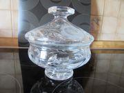 Glasschale mit Deckel Bleikristallglas ca