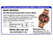 Uhrmacher Reparaturen Armbanduhren Taschenuhren Wanduhren