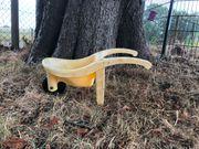 Schubkarre in gelb - sehr robust