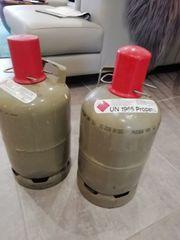 2 Gasflaschen Propangas Flasche 5