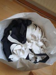 Gummiband elastisch schwarz und weiß