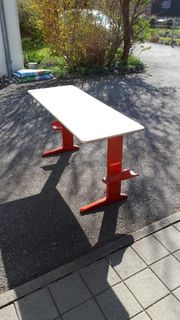 Original Schulmöbel Tisch 130x50x70cm zu