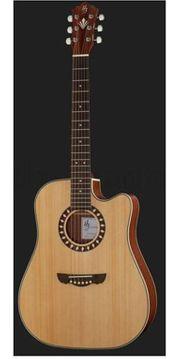 Verkaufe neuwertige Dreadnought-Westerngitarre mit Cutaway