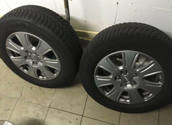 Audi Alufelgen mit Winterreifen 215