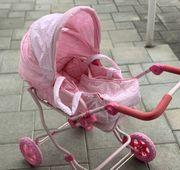 Puppenwagen mit Tragetasche