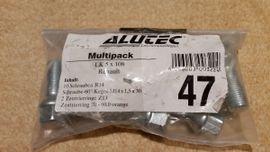 10 Schrauben R14 (für Alutec Multipack LK 5x108 Renault)