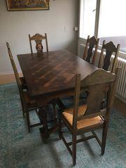 Esstisch mit 6 Stühlen Holz