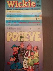7x Popeye Comics 1x Wickie